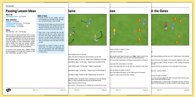UKS2 Football Skills 2 Passing Lesson Pack - football, PE, sport, exercise, KS2, UKS2, Key Stage 2, year 5, year 6, skills, physical education, ball skills, team sports