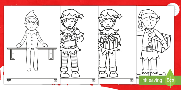 Christmas girl elf coloring pages - Hellokids.com | 315x630
