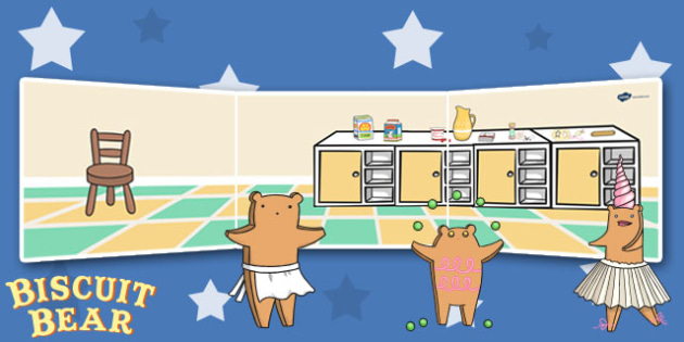 Small World Background to Support Teaching on Biscuit Bear - Biscuit, Bear, Banner, Story