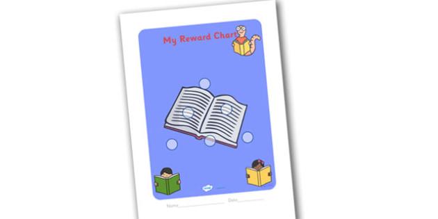 Literacy Themed Sticker Reward Chart 15mm - literacy reward chart, literacy chart, literacy sticker chart, literacy sticker reward chart, 15 sticker chart