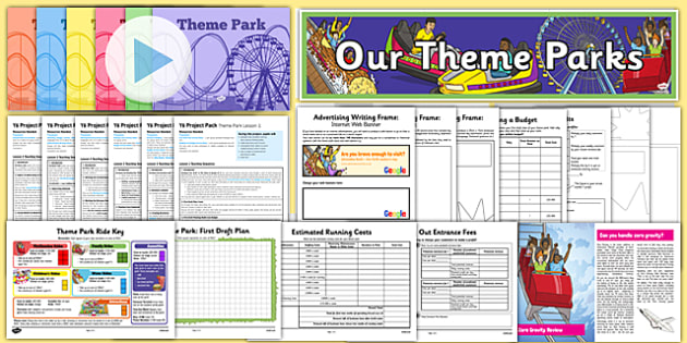 Year 6 Project Pack: Theme Park Resource Pack, scream machine,