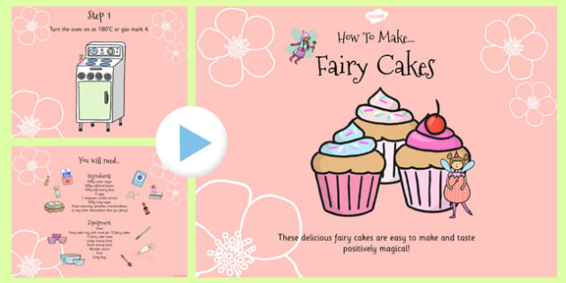 Fairy Cake Recipe PowerPoint - fairy cake, recipe, powerpoint
