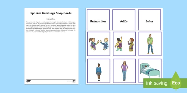 Greetings snap card game spanish spanish vocabulary ks2 greetings snap card game spanish spanish vocabulary ks2 greetings snap m4hsunfo