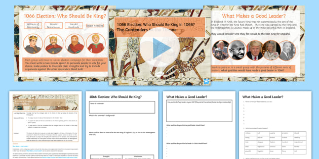 1066 Election: Who Should Be King? Lesson Pack - norman