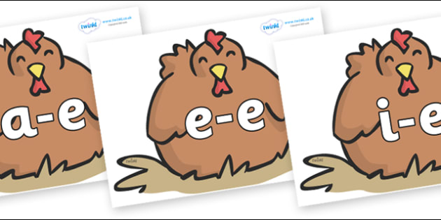 Modifying E Letters on Chickens - Modifying E, letters, modify, Phase 5, Phase five, alternative spellings for phonemes, DfES letters and Sounds