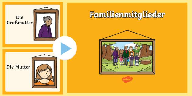 Familienmitglieder PowerPoint - Familienmitglieder, Familie