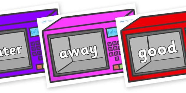 Next 200 Common Words on Microwaves - Next 200 Common Words on  - DfES Letters and Sounds, Letters and Sounds, Letters and sounds words, Common words, 200 common words