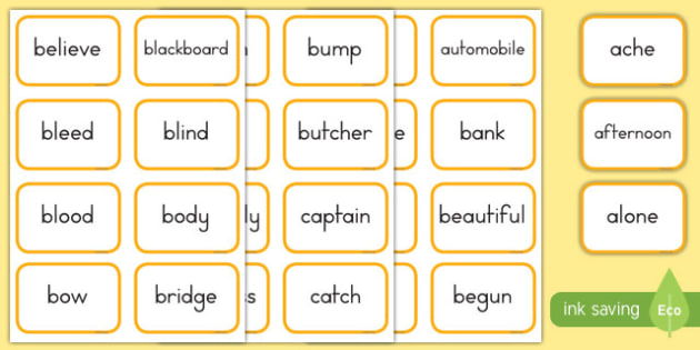 Dolch Words Fifth Grade Flashcards