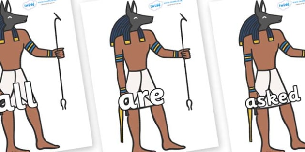 Tricky Words on Egyptian God - Tricky words, DfES Letters and Sounds, Letters and sounds, display, words