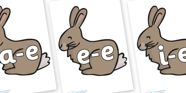 Modifying E Letters on Rabbits - Modifying E, letters, modify, Phase 5, Phase five, alternative spellings for phonemes, DfES letters and Sounds