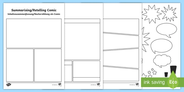 New Summarising And Retelling Comic Storyboard Template