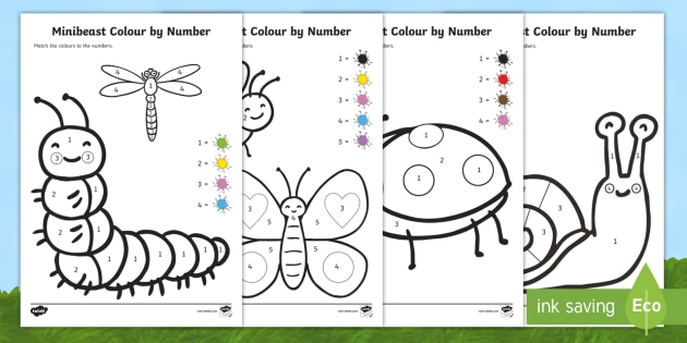Color By Number Sheets