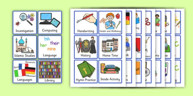 SEN Visual Timetable for School Individual - sen visual timetable, sen visual timetable cards, sen visual timetable school cards, sen school cards, sen