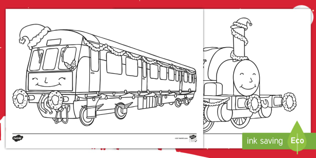 Christmas Trains Coloring Pages - KS1, Key Stage One, Trains ...