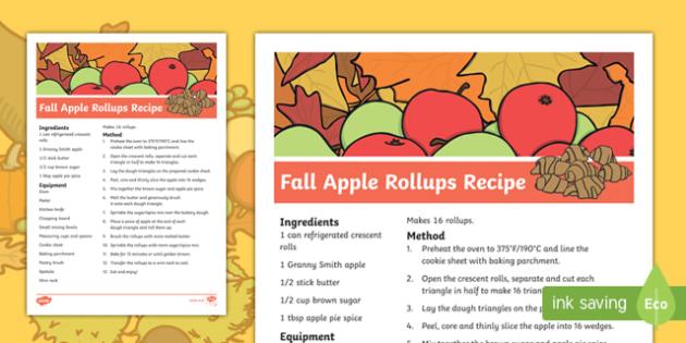 Fall Apple Rollups Recipe