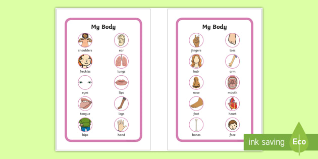 NEW * My Body Prompt Frame IKEA Tolsby - My body word mat