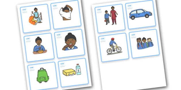 SEN Visual Timetable  (Getting Ready For School - Sikh Boys) - getting ready for school, Visual Timetable, SEN, Daily Timetable, School Day, Daily Activities, Daily Routine KS1