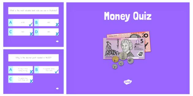 Money Maths PowerPoint Quiz - australia, money, maths, powerpoint