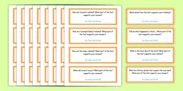 Third Grade Reading Informational Texts Editable Question Cards