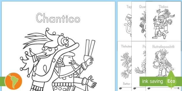 New Hojas De Colorear Dioses Aztecas Dioses Aztecas Dios