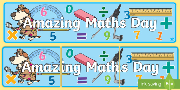 Amazing Maths Day Banner - World Maths Day, numeracy, event