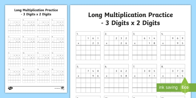 KS2 Long Multiplication Worksheets - Primary Resources