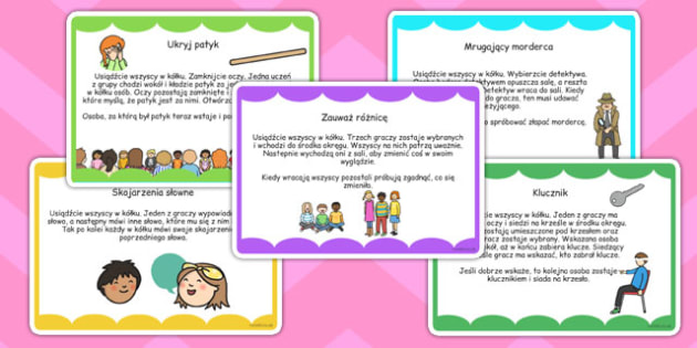 Ice Breaker Game Cards Polish - communication, new starters, ks1, ks2, friendship