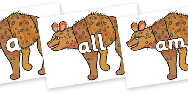 Foundation Stage 2 Keywords on Hyena to Support Teaching on The Bad Tempered Ladybird - FS2, CLL, keywords, Communication language and literacy,  Display, Key words, high frequency words, foundation stage literacy, DfES Letters and Sounds, Letters an