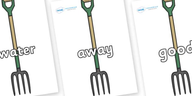 Next 200 Common Words on Garden Forks - Next 200 Common Words on  - DfES Letters and Sounds, Letters and Sounds, Letters and sounds words, Common words, 200 common words