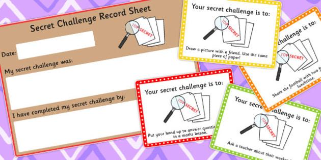 Secret Challenge Social Skills Cards Set 2 - activity, activities