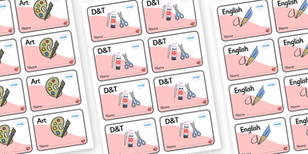 Ruby Themed Editable Book Labels - Themed Book label, label, subject labels, exercise book, workbook labels, textbook labels