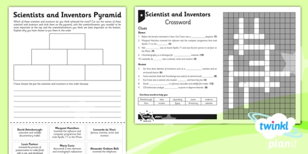 Science: Scientists and Inventors Year 5 Unit Home Learning Tasks