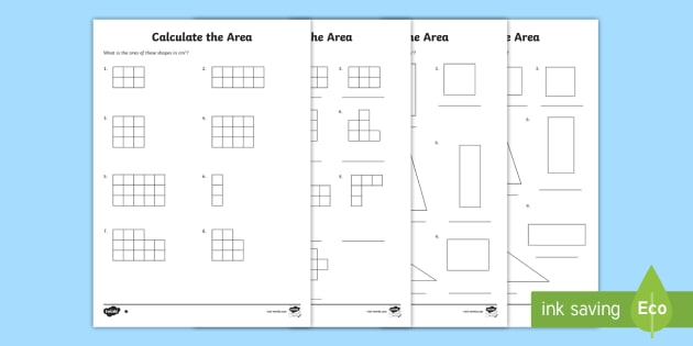 Calculate The Area Worksheets Area Worksheet Calculate Work