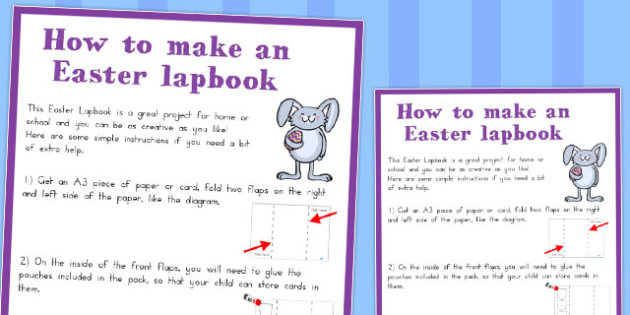 Easter Lapbook Instructions - australia, easter, book instruction