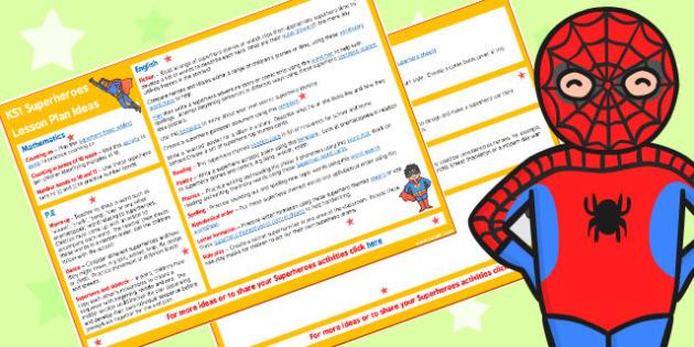 Superheroes KS1 Lesson Plan Ideas - lesson plan, ideas, superhero