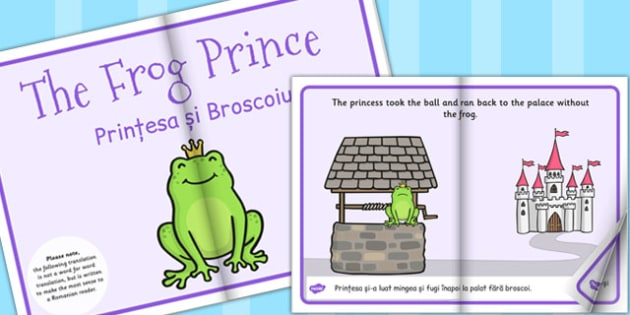 The Frog Prince eBook EAL Romanian Translation - Romanian, ebook