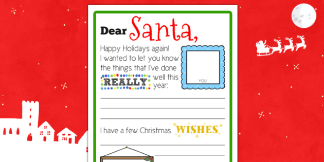 scaffolded letter to santa writing template scaffold letter santa christmas