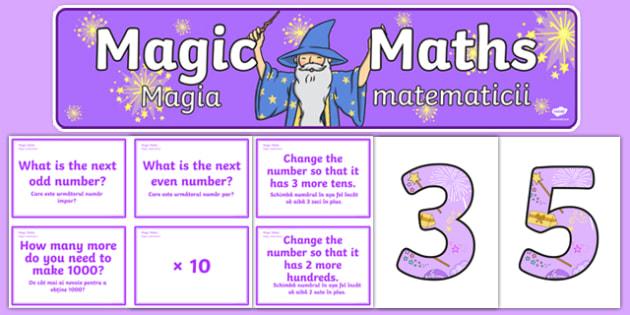 Magic Maths Challenge Pack Romanian Translation - romanian, magic maths, challenge cards, maths, magic, activity