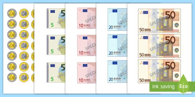 Images A Decouper Les Billets En Euros Teacher Made