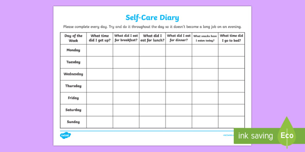 Self care diary young people families case file recording self care diary young people families case file recording planning template young people pronofoot35fo Image collections