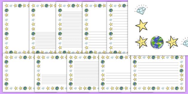 Twinkle, Twinkle, Little Star Page Borders Pack - nz, new zealand, nursery rhyme, page borders, twinkle twinkle little star