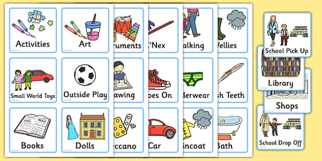 Daily Routine Cards For Home  Visual Timetable Time Table