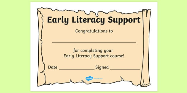 Early Literacy Support Award Scrolls - ELS, Early Literacy Support, literacy award, scroll, reward, award, certificate, medal, rewards, school reward