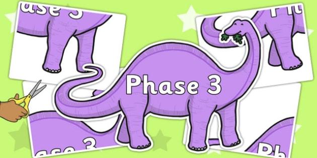 Phase 3 Cut-Out Display Dinosaur - phase 3, display, dinosaur, sign