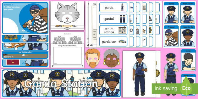 Aistear Pack The Garda Station Display Pack - Aistear Resources Pack, Aistear, Garda Station, Police Station, Play, ROI, Irish