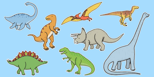 Dinosaur Cut Outs - dinosaur, cut outs, cut, outs, display, activity