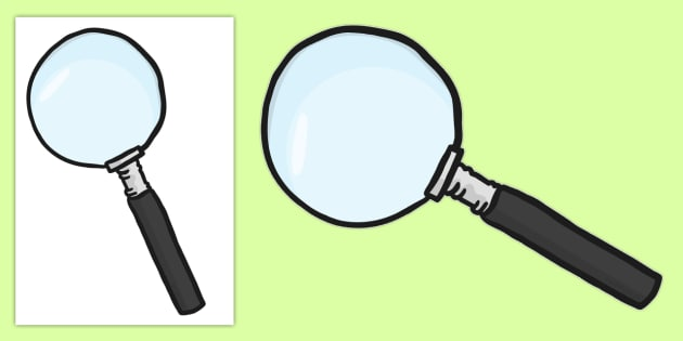 Cut-out Magnifying Glass - cut out, cut-out, display, display image, display magnifying glass, magnifying glass, investigation, magnifying glass for display