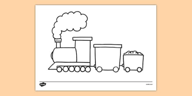 Basic Train Drawing Templates - basic, train, drawing, template