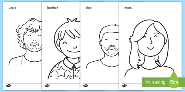 My Family Coloring Sheets