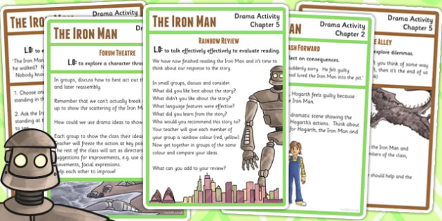 The Iron Man Drama Activity Pack - story books, acting, roleplay